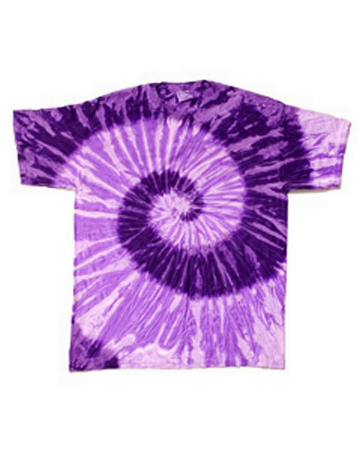 Tie-Dye CD100Y Youth 100% Cotton Tie-Dyed T-shirt - Spiral Purple/Light Purple - XS CD100Y