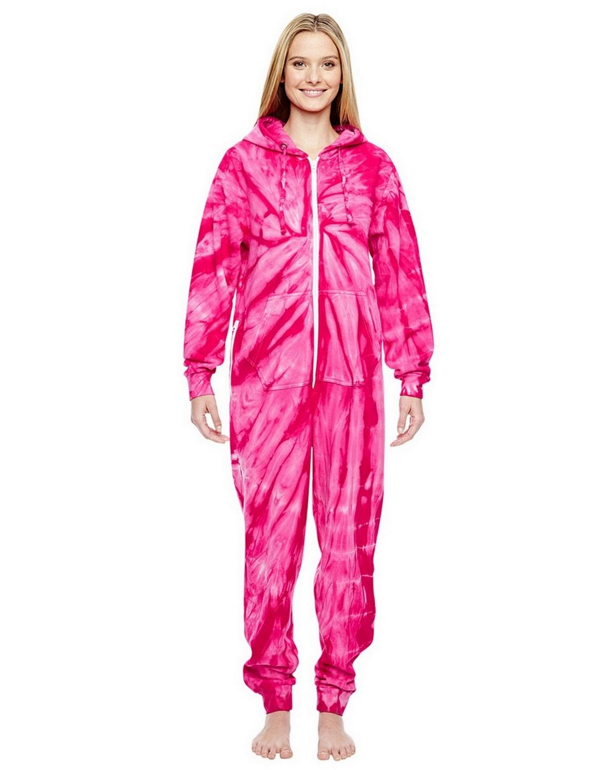 Tie-Dye CD892 All-In-One Loungewear - Spider Pink - XS CD892