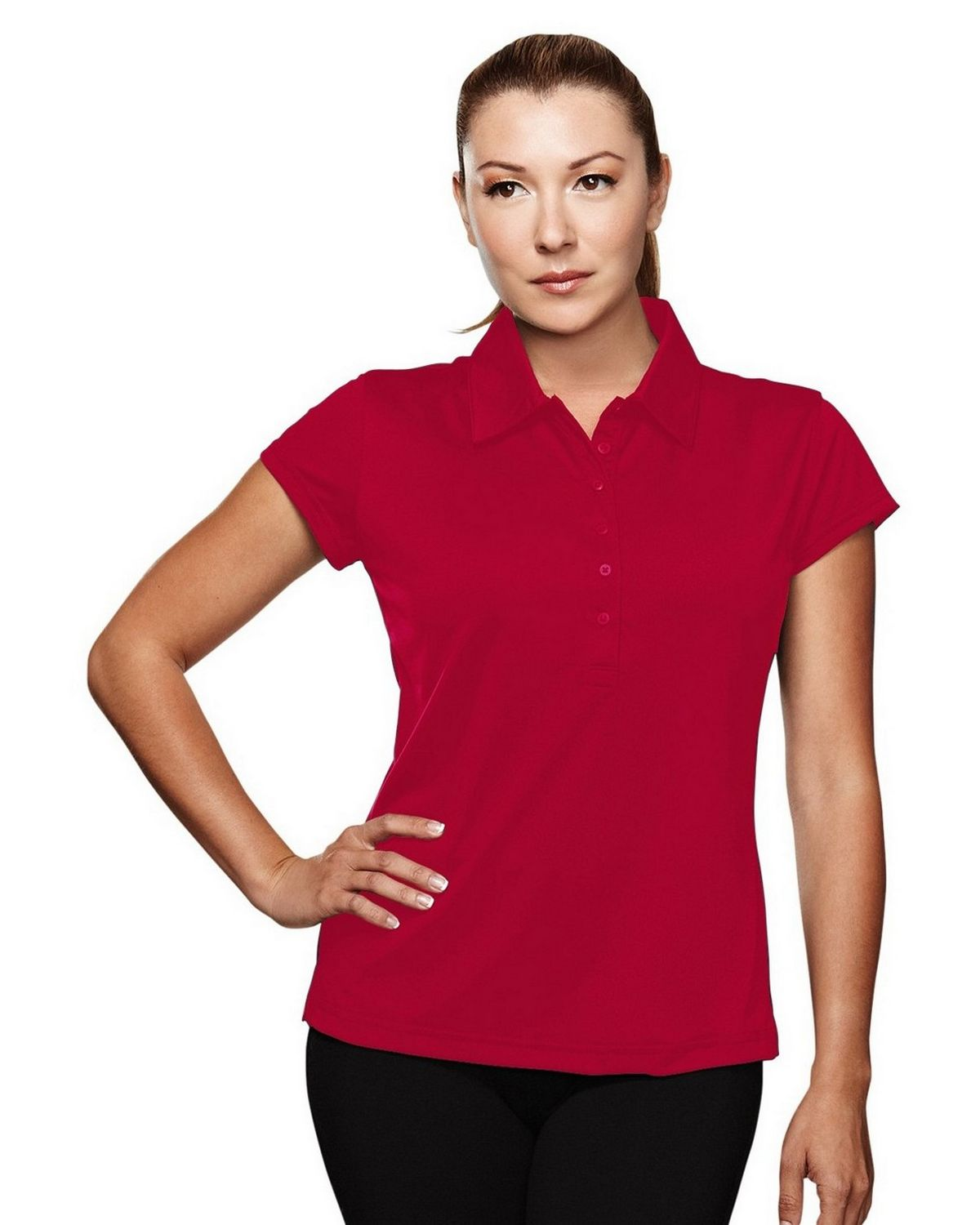 Tri-Mountain Performance 221 California Golf Shirt - Red - L 221