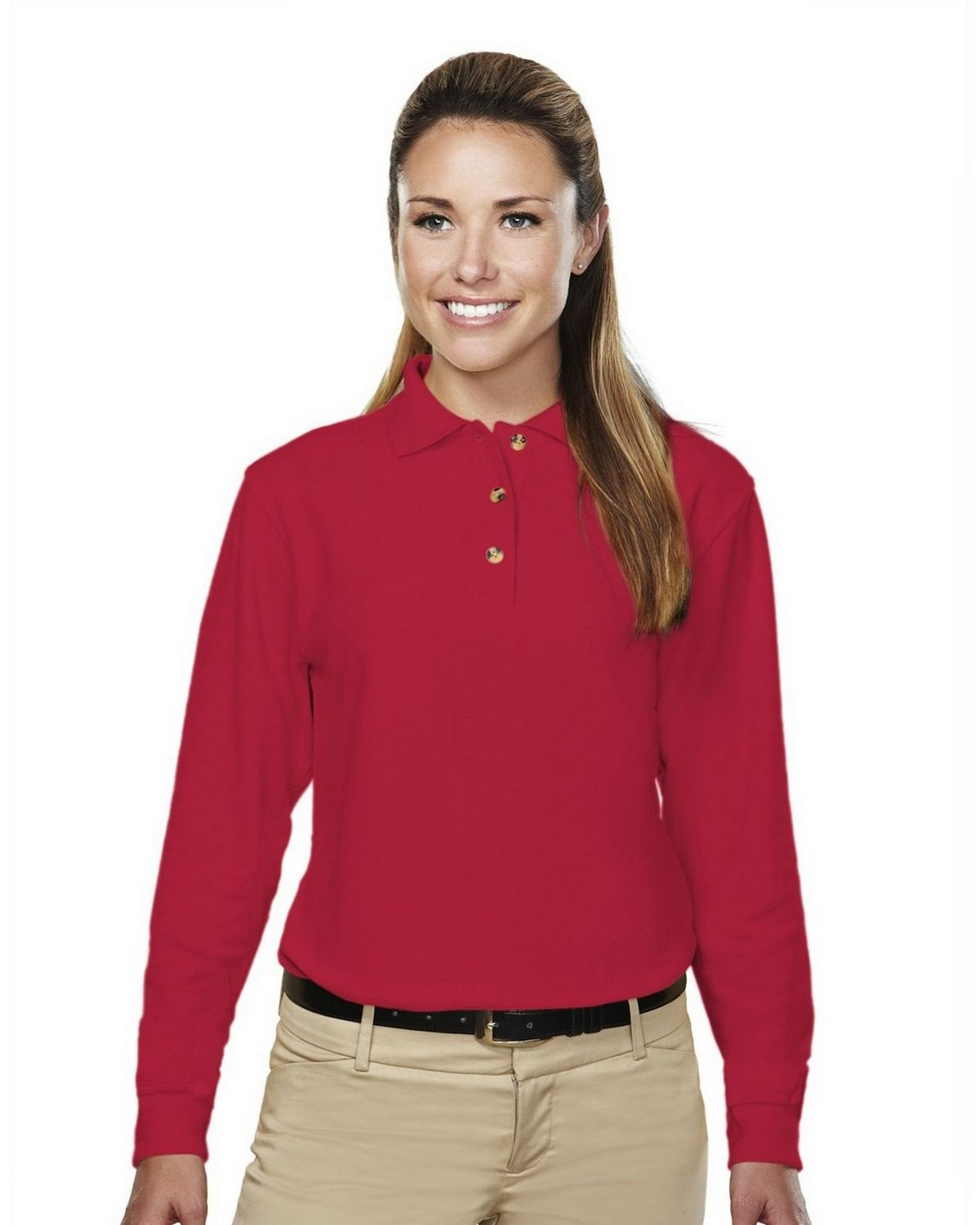 Tri-Mountain 602 Victory Golf Shirt - Red - L 602