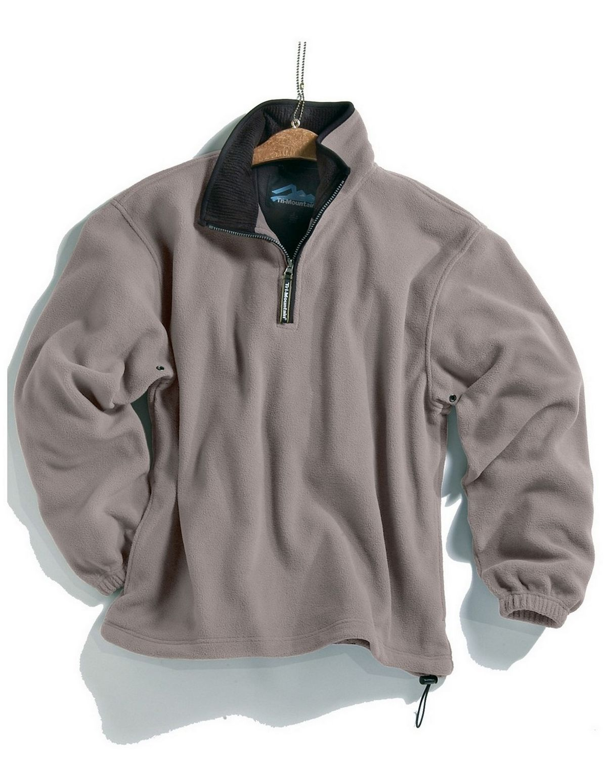 Tri-Mountain 7100 Escape pullover. - Heather Gray / Black - S 7100