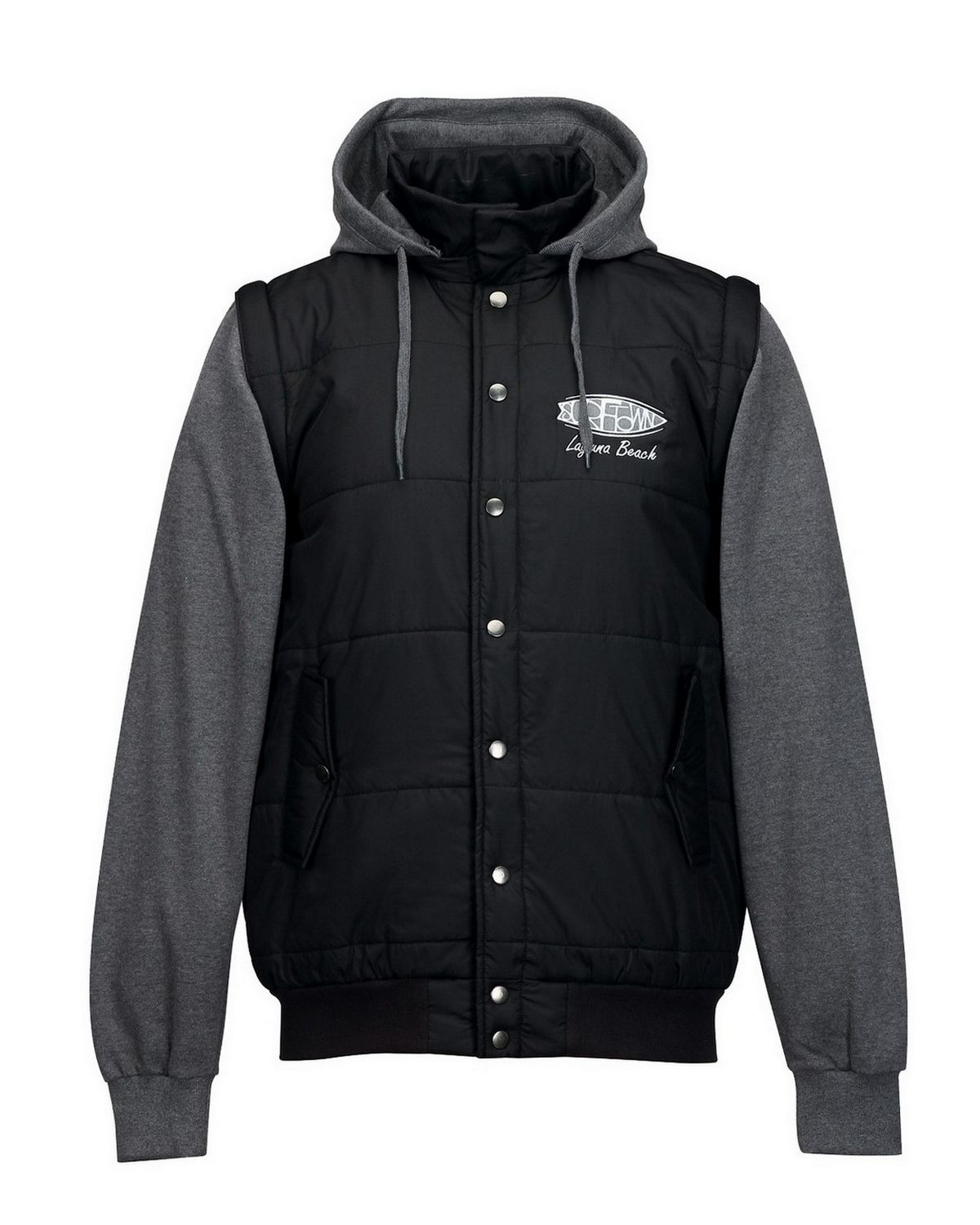Tri-Mountain J8150 Shawn Hoody - Black/Charcoal - M J8150