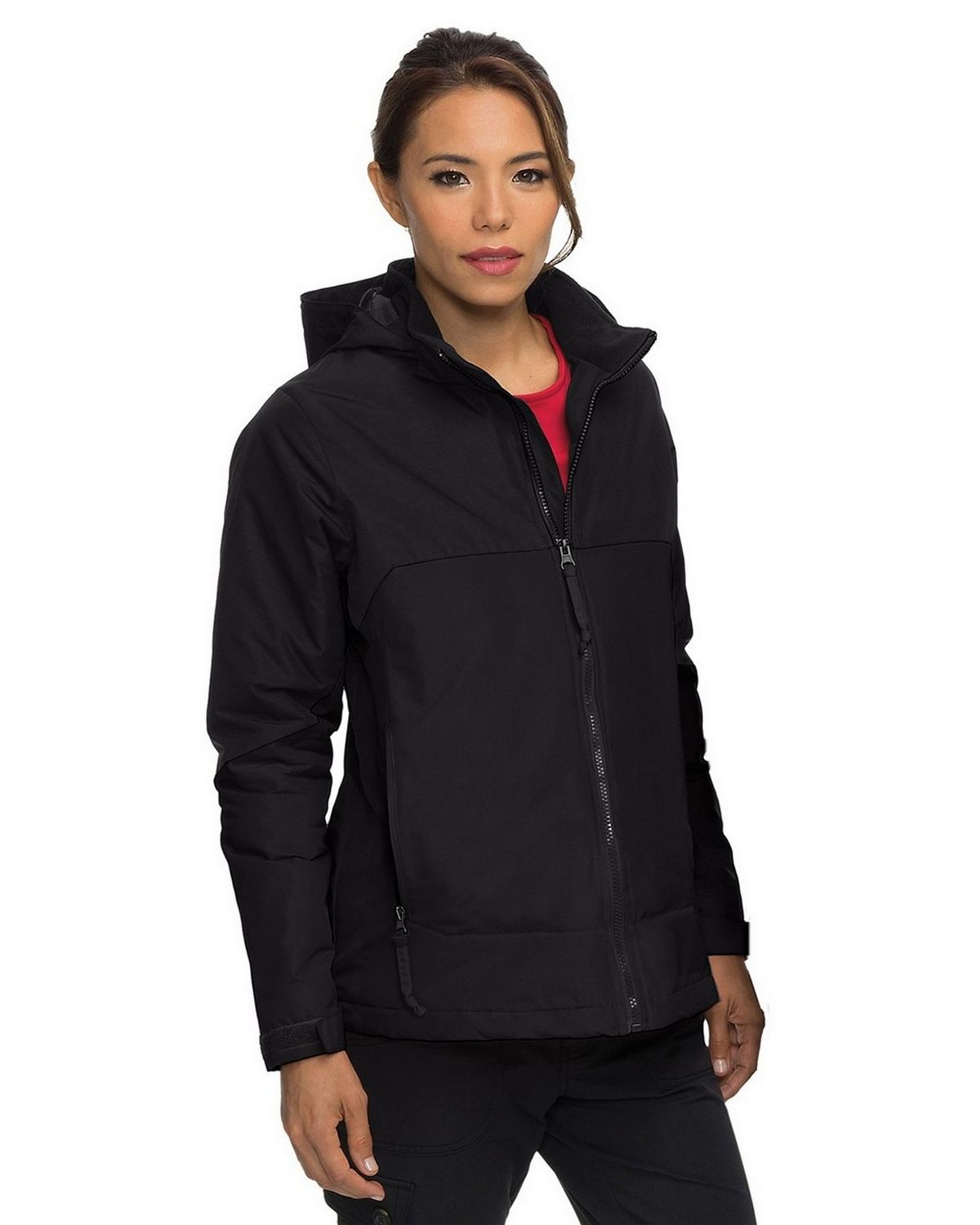 Tri-Mountain Jl8920 Womens Nylon Jacket - Red/Black - XS JL8920