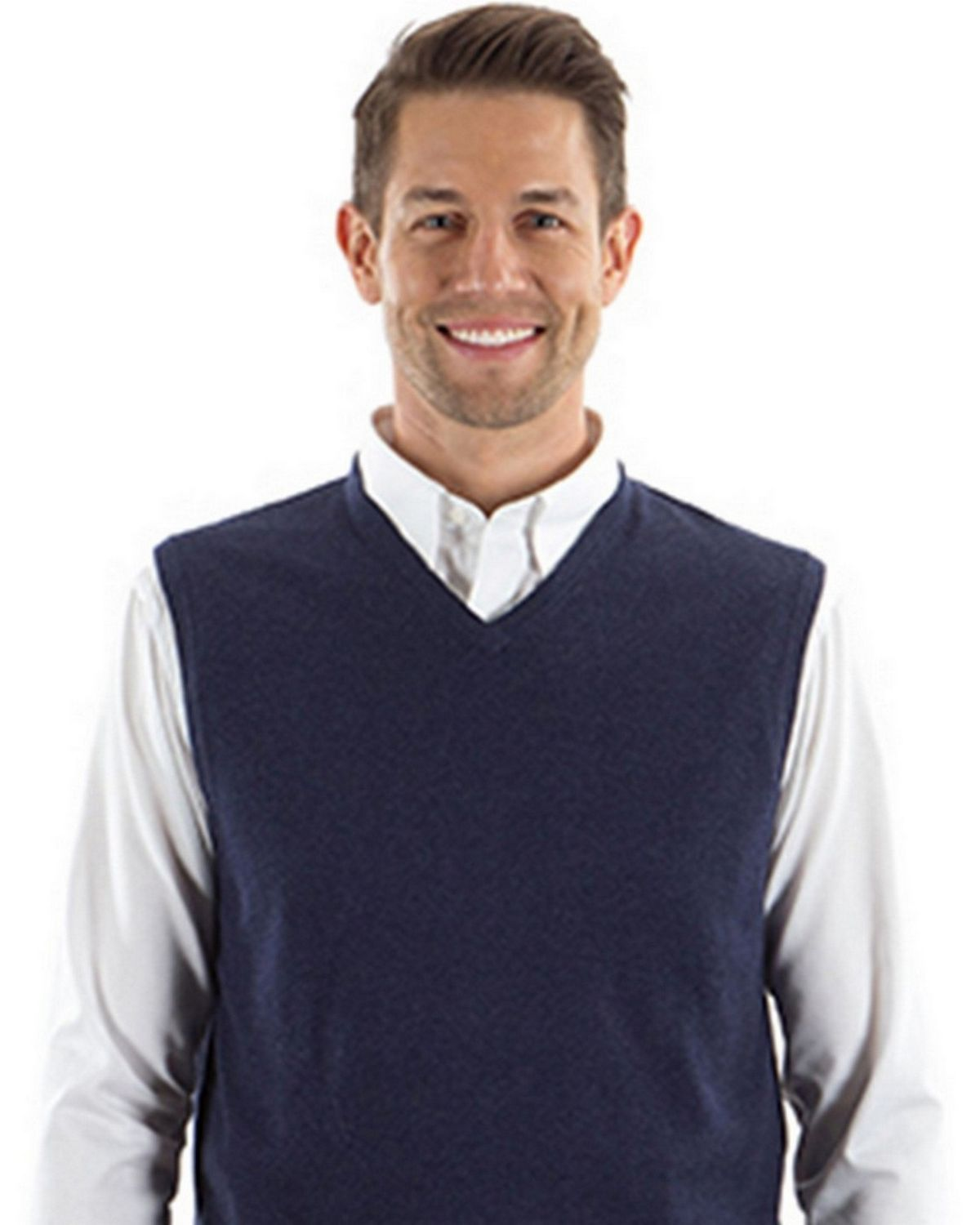 Van Heusen 13VS004 Mens Sweater Vest - ApparelnBags.com