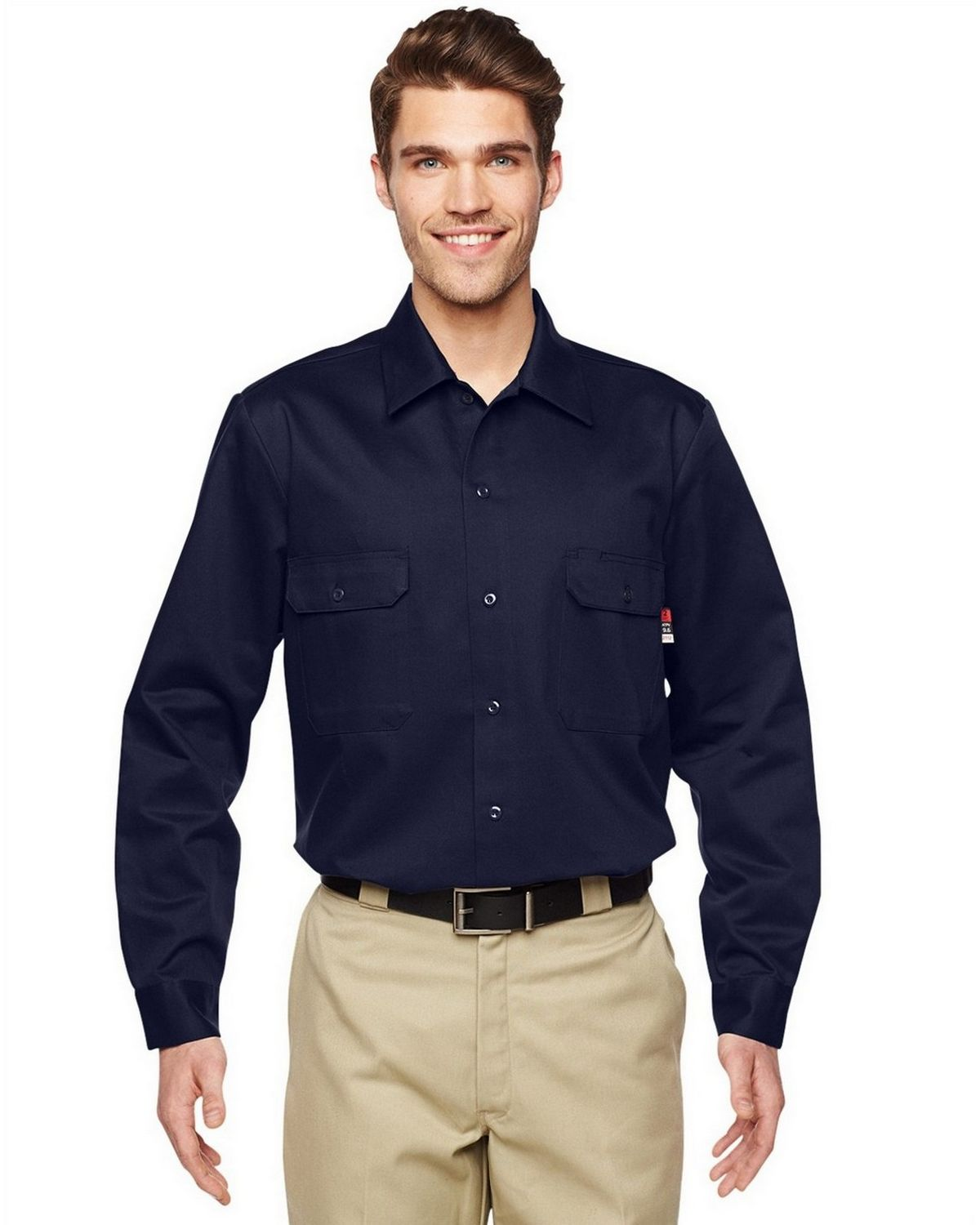 Walls 56915t Mens Flame Resistant Core Work Shirt Tall