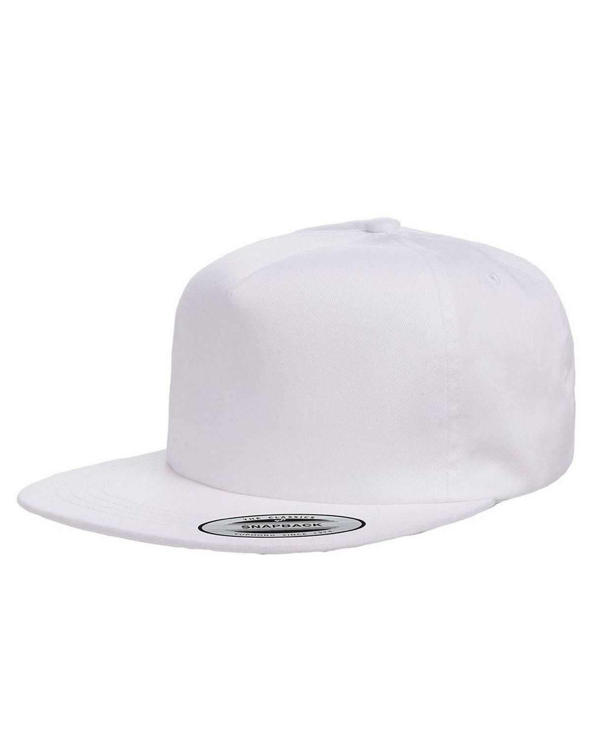 9987ec5796dab Logo Embroidered Yupoong Y6502 Adult Unstructured 5-Panel Snapback Cap