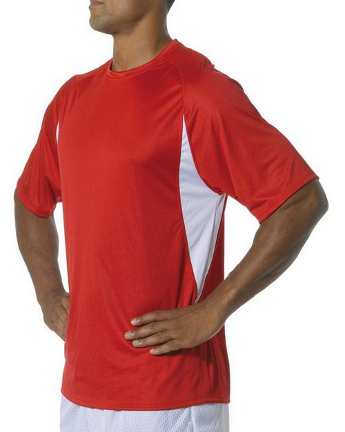 A4 N3181 Adult Cooling Performance Color Block Tee