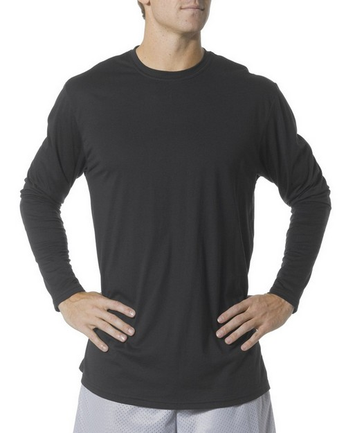 A4 N3221 Adult Fusion Cotton Long Sleeve Tee