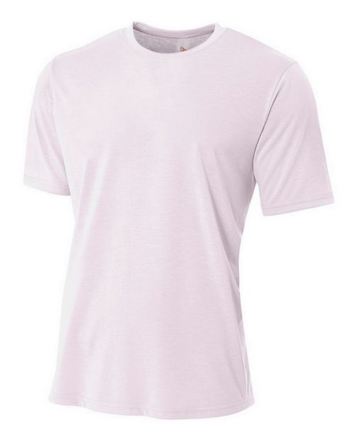 A4 N3264 Adult Spun Poly Tee - For Men