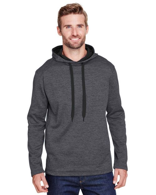 A4 N4103 Mens Tonal Space Dye-Tech Fleece Hoodie