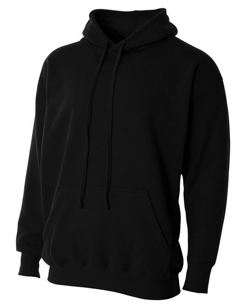 A4 N4231 Adult Combed Ring Spun Blended CVC Fleece Hooded Sweatshirt