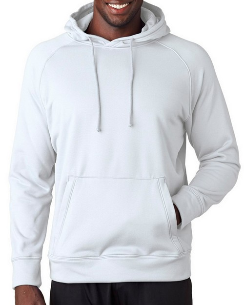 A4 N4237 Adult Solid Tech Fleece Hoodie
