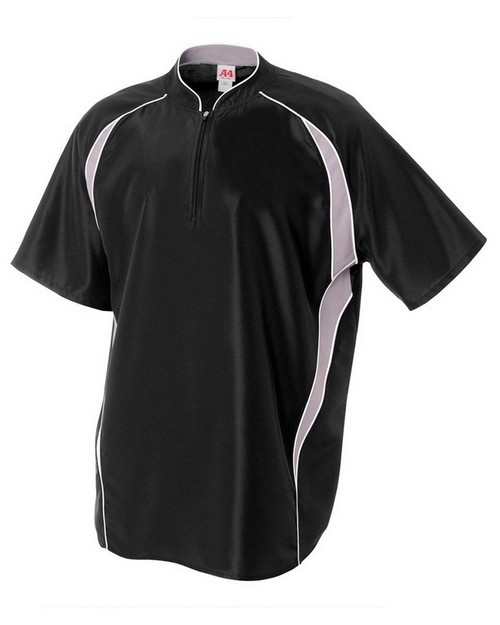 A4 N4241 Adult 1/4 Zip Batting Jacket