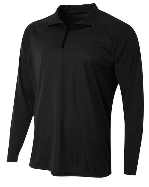 A4 N4268 Mens Daily Polyester 1/4 Zip Pullover