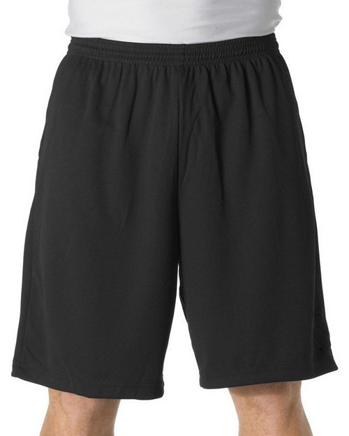 "A4 N5338 Adult 9"" Moisture Management Short With Side Pocket"