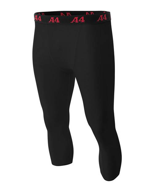 A4 N6202 Mens Polyester/Spandex Compression Tight
