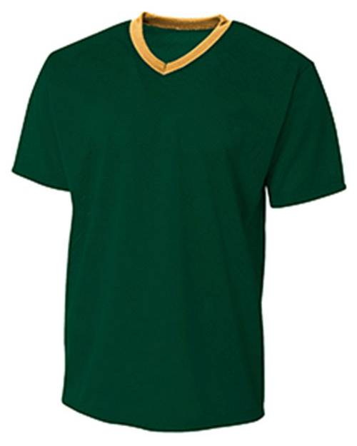 A4 NB3364 Youth Polyester Mesh V-Neck T-Shirt