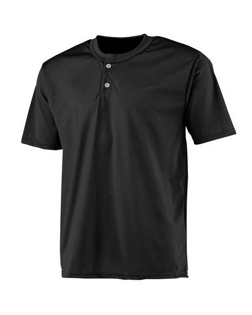 A4 NB4130 Youth 2 Button Mesh Henley