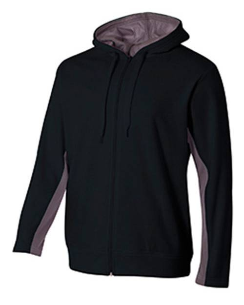 A4 NB4251 Youth Tech Fleece Full-Zip Hooded Sweatshirt