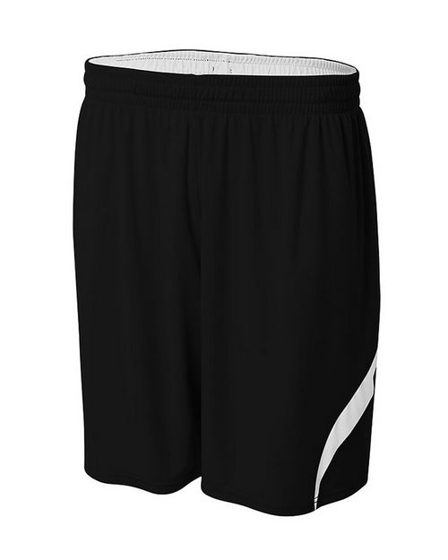 A4 NB5364 Youth Performance Double/Double Reversible Basketball Short