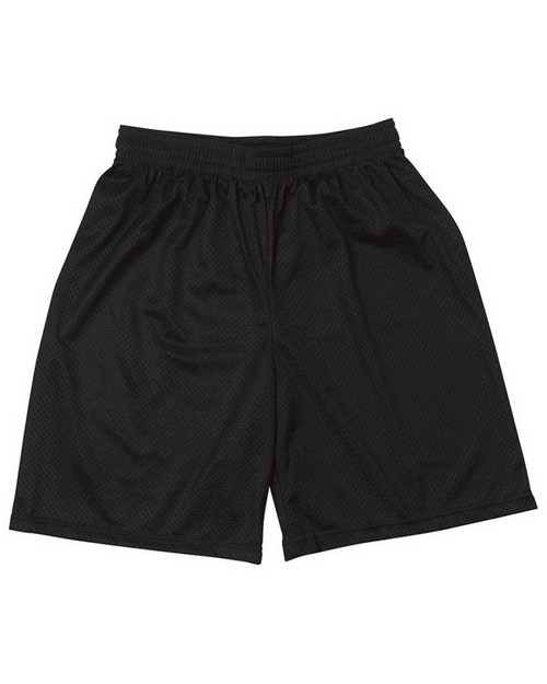 "A4 NM5019 Adult Utility 9"" Mesh Shorts"