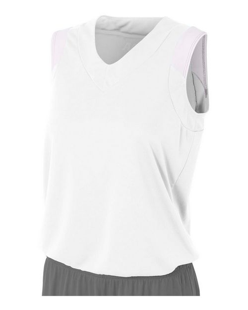 A4 NW2340 Moisture Management V-neck Muscle