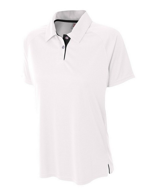 A4 NW3293 Ladies Interlock Contrast Polo Shirt