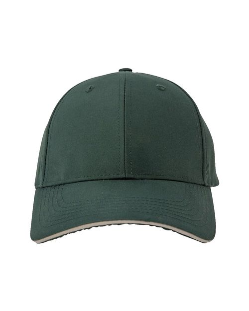 Logo Embroidered Adams PE102 6-Panel Structured Moisture Management Cap