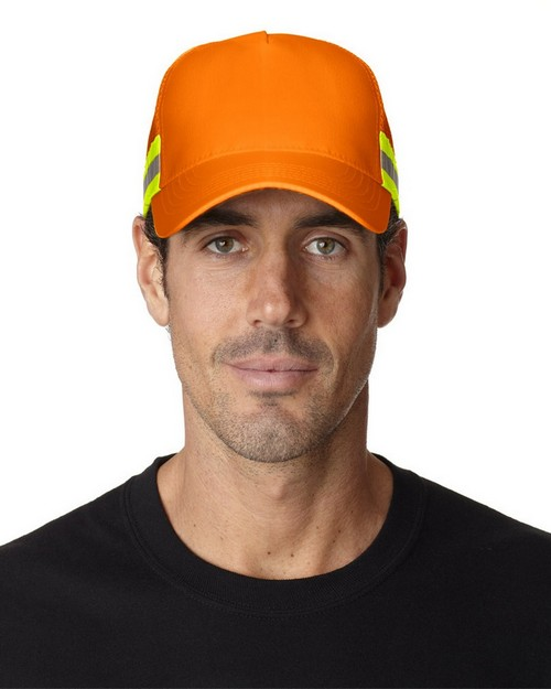 Adams TR102 Trucker Reflector High-Visibility Constructed Cap