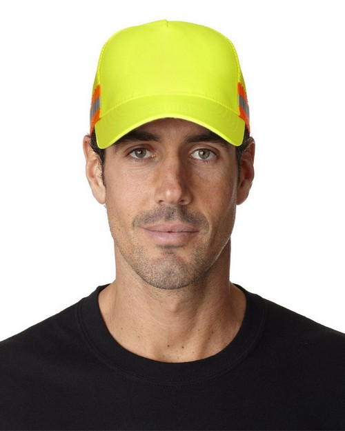 Logo Embroidered Adams TR102 Trucker Reflector High-Visibility Constructed Cap