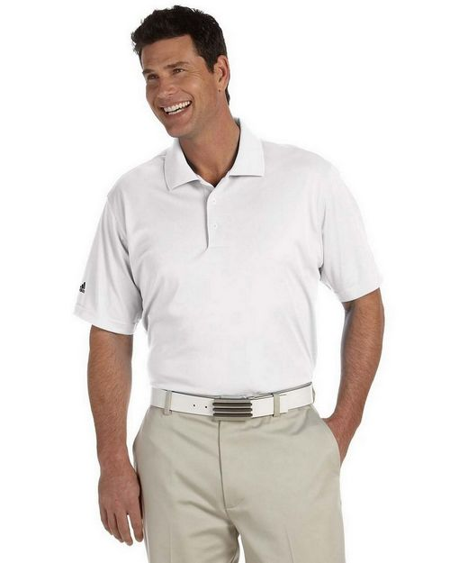 Adidas Golf A130 Men's ClimaLite Pique Short-Sleeve Polo