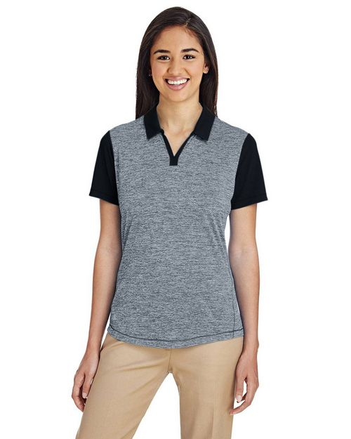 Adidas Golf A146 Ladies Heather Block Polo Shirt