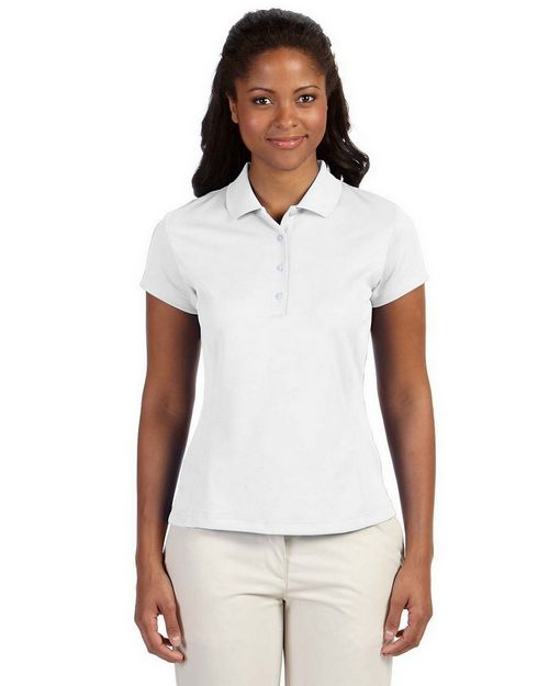 Adidas Golf Logo Embroidered ClimaLite Solid Polo Shirt - For Women