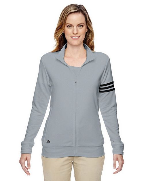 Adidas Golf A191 Ladies Climalite 3 Stripes Full Zip Jacket