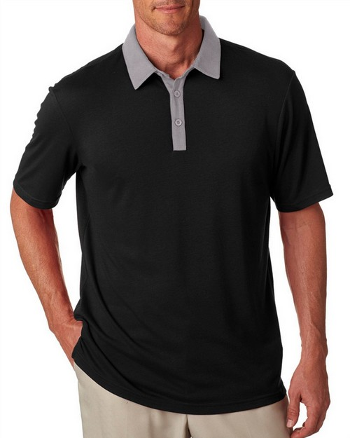 Adidas Golf A192 Adidas Men's Short-Sleeve 2-Tone Polo
