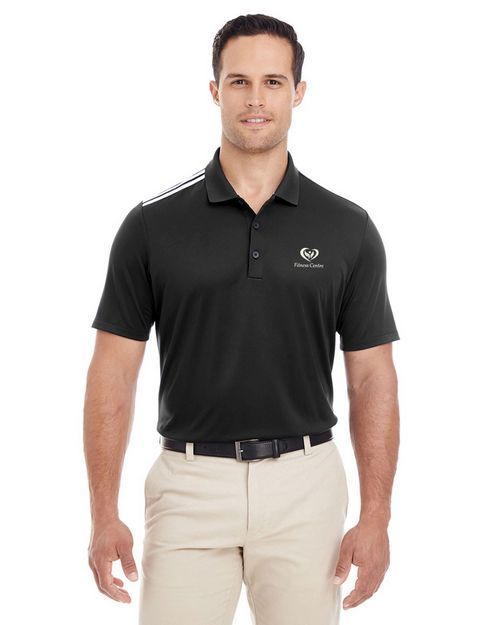 Adidas Golf A233 Mens 3-Stripes Shoulder Polo