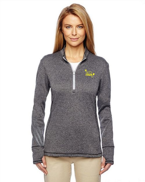 Adidas Golf A275 Ladies Brushed Terry Heather Quarter-Zip Pullover