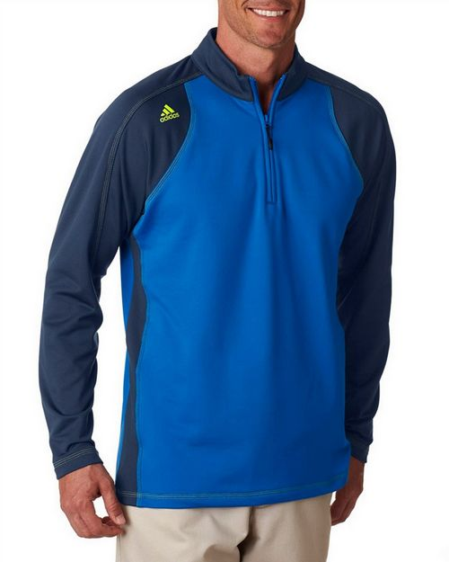 Adidas Golf A276 Adidas Men's ClimaWarm 3-Stripes Color Block 1/4-Zip Training Top