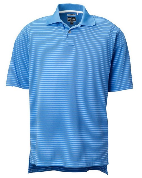 Adidas Golf A60 Men's ClimaLite Tech Pencil Stripe Polo