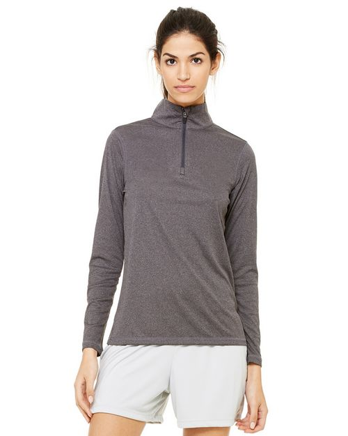 All Sport W3006 Ladies Zip Lightweight Pullover