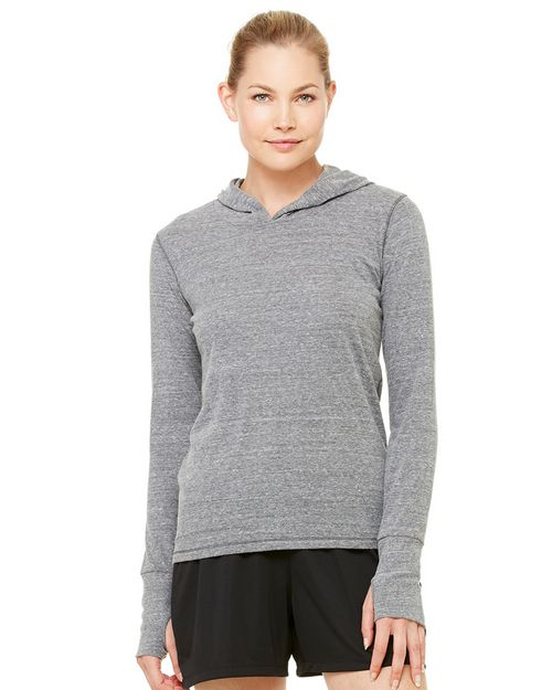 All Sport W3101 Ladies Performance Triblend Long-Sleeve Hooded Pullover