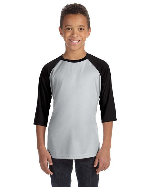 All Sport Y3229 Youth Baseball T Shirt