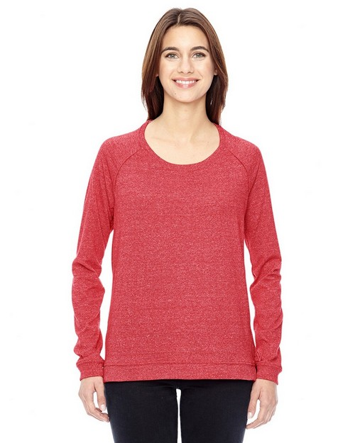 Alternative 01919E Ladies Eco Mock Twist Locker Room Pullover