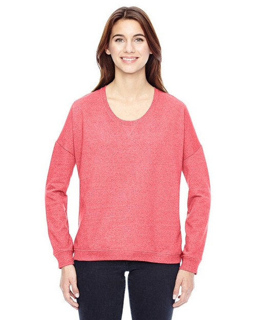 Alternative 09833E Ladies Eco-Mock Twist Sunset Crewneck