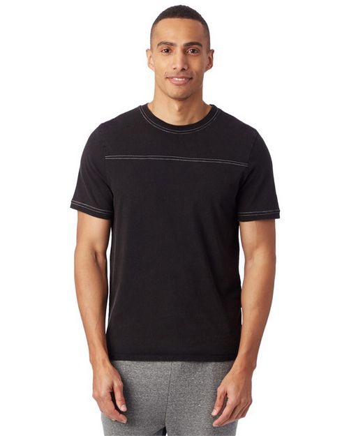 Alternative 1054 Men Heavy Wash Football Tee
