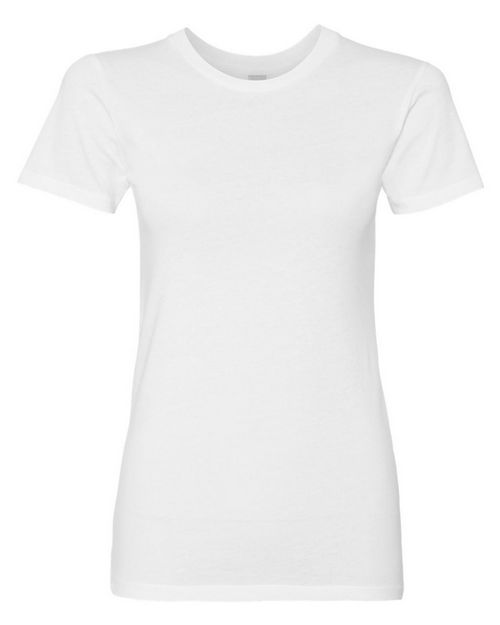 Logo Embroidered Alternative 1072 Womens Basic Crew T-Shirt
