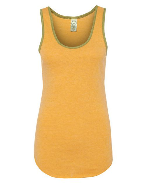 Alternative 12132 Womens Eco-Jersey Ringer Racerback Tank