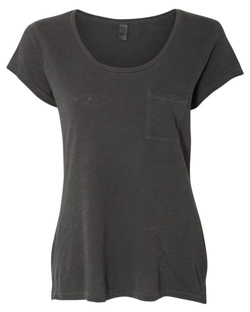Alternative 12412 Womens Washed Slub Favorite Pocket T-Shirt
