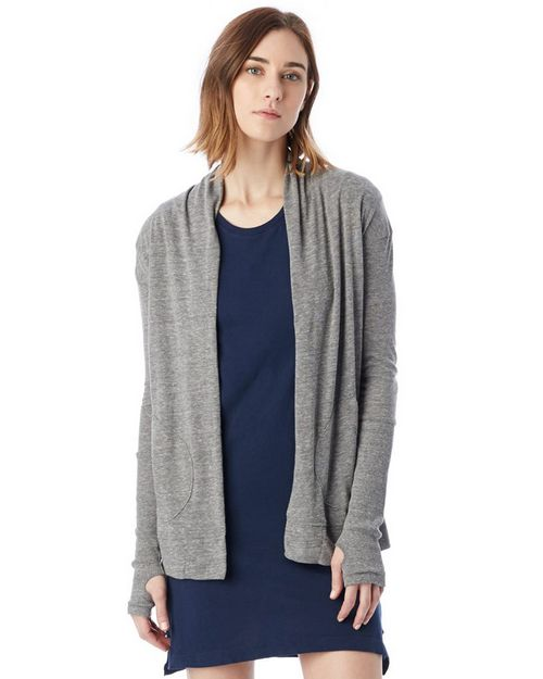 Alternative 12529 Womens Rib Sleeve Eco-Jersey Wrap