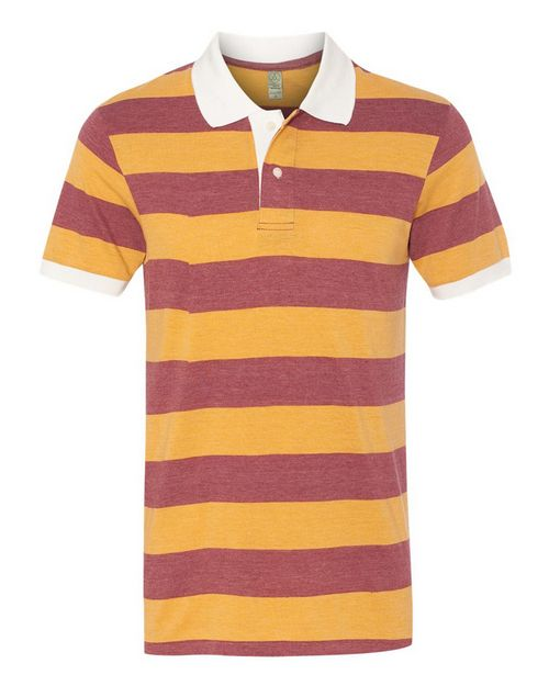 Alternative 1905 Mens Eco-Jersey Ugly Stripe Short Sleeve Polo